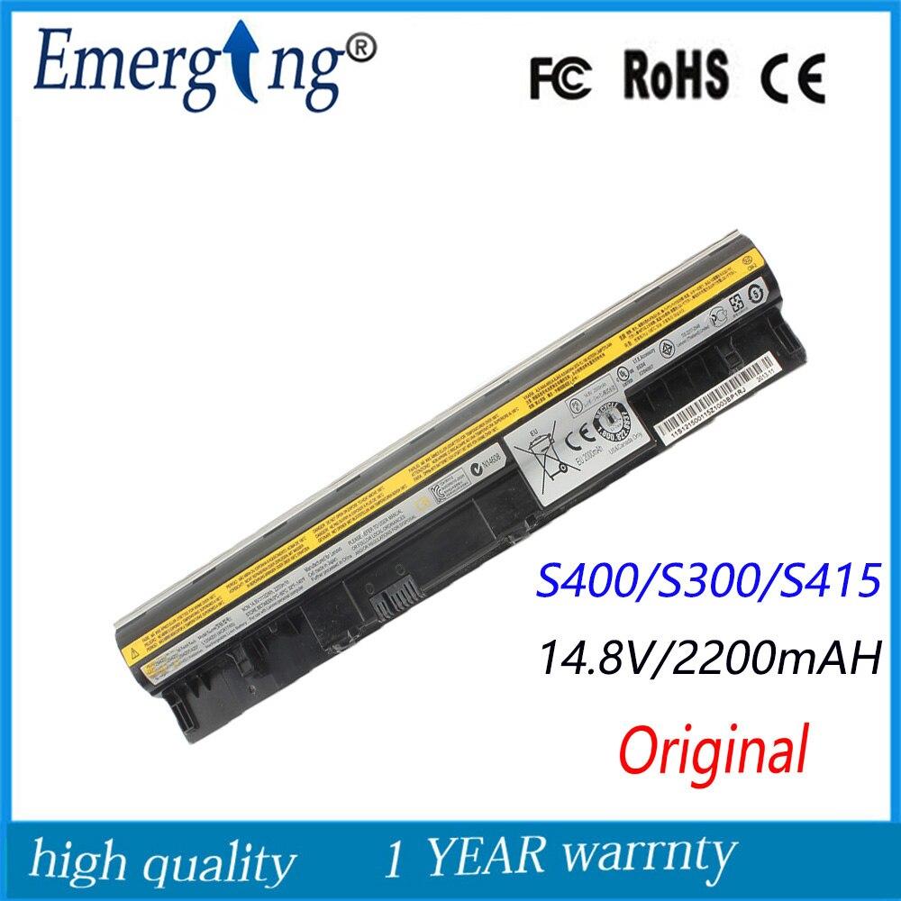 14,4 V 32Wh Original nueva batería del ordenador portátil para lenovo IdeaPad S310 S300 S400 S410 S415 S405 S435 L12S4Z01 L12S4L01