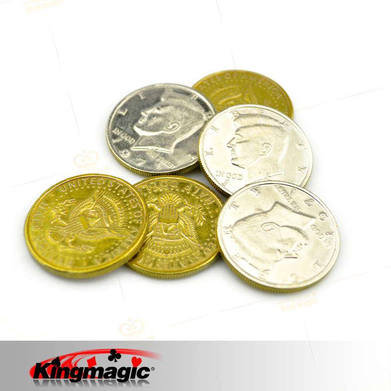 50 центов, половина доллара, один набор, в том числе 4 различных вида 50 половинных долларов, Волшебная монета, магический реквизит, магические трюки