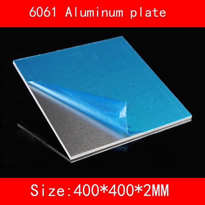6061 # placa De Alumínio 400*400*2mm (3mm, 4mm, 5mm de espessura)
