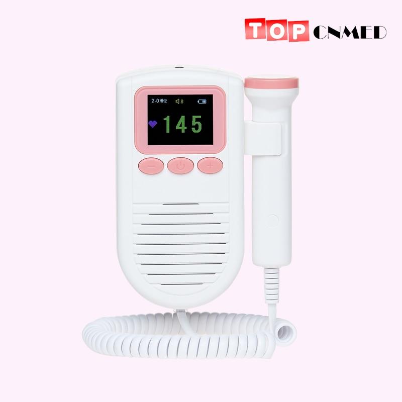 Monitor Fetal Doppler de pulso Fetal para mujeres embarazadas, sonda de 2,0 Mhz con escala FHR con altavoz