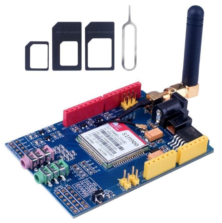 C84 10 Uds SIM900 GPRS/GSM Shield Módulo de desarrollo Quad-Band Compatible