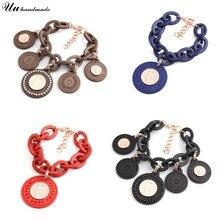 Bracelet acrylique bracelets pour femme pulseira feminina pulseras bileklik pulseiras bracelet à breloques bohème mujer bijoux