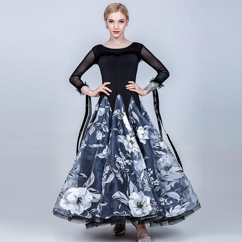 Nuevos vestidos de Baile Estándar para mujeres falda elegante de fiesta Rave vestido largo vestidos de competición de baile de salón BL1521