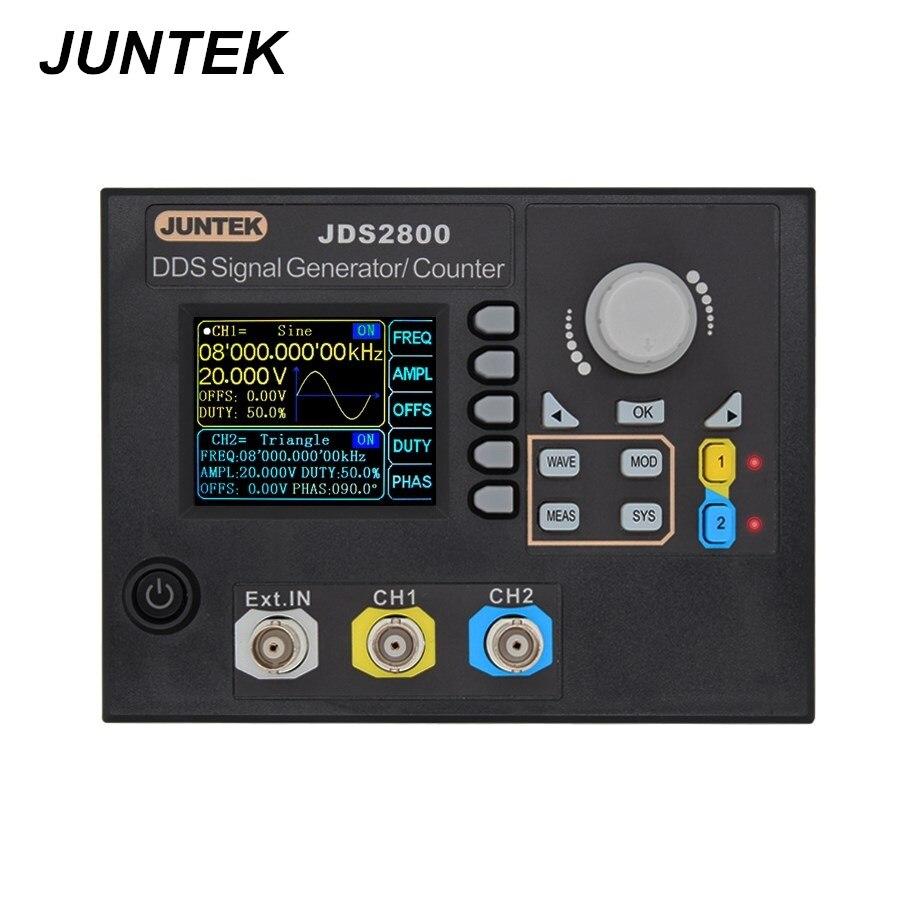 JUNTEK JDS2800-60M 60 МГц генератор сигналов цифровой контроль двухканальный DDS функция генератор сигналов Частотный метр Скидка 40%