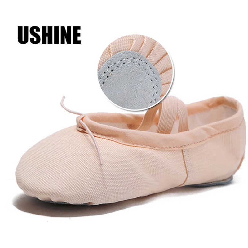 Usshine zapatillas de Yoga para profesores de gimnasia Yoga Ballet zapatos de baile para niñas mujer calzado de Ballet de lona niños