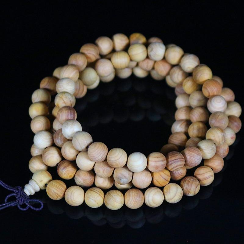 Браслет для мужчин и женщин Thuja sutchuensis, из натурального дерева, 8 мм, 108 шт., 100% ручная работа