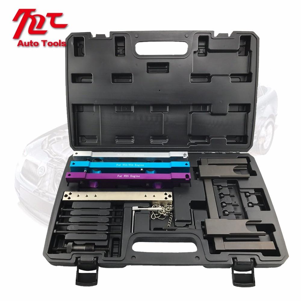 jtc набор фиксаторов распредвала для установки и регулировки фаз грм bmw n51 n52 n53 n54 oem bmw 114280 oem bmw 114290 vanos n51 n52 n55 jtc 4619ab Car Garage Tools For BMW N51 N52 N53 N54 N55 Camshaft Vanos Flywheel Timing Tool Set Engine Timing Tools