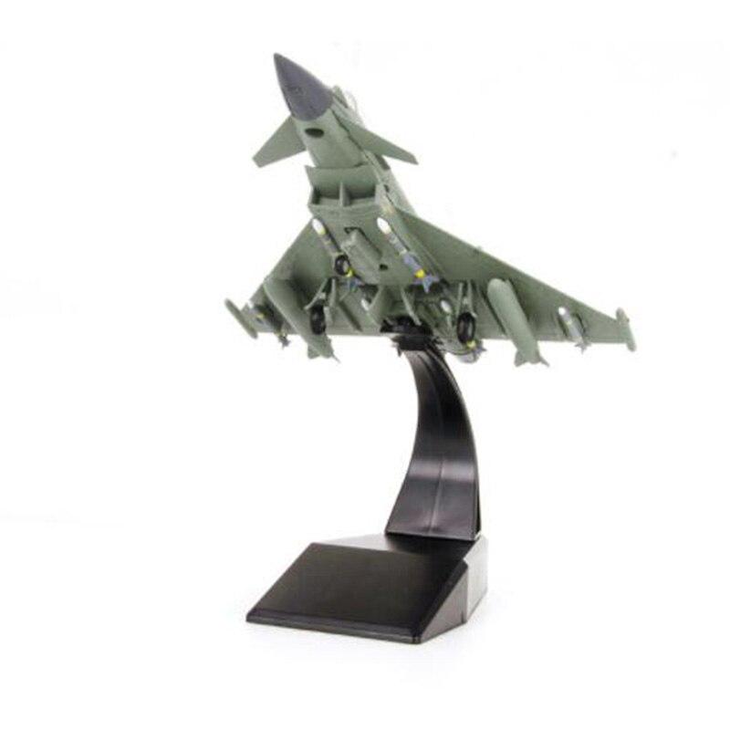 Avión de combate a escala 1/100 Eurofighter Typhoon aviones militares modelos de avión juguetes para niños y adultos para la colección de exhibición