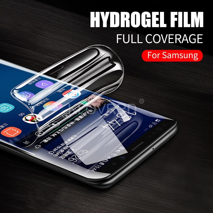 Para Samsung A50 A70 A10 A20 A30 A40 A80 A90 A8s M10 M20 M30 M40 de la cubierta completa pegamento Protector de pantalla de hidrogel película etiqueta adhesiva de silicona