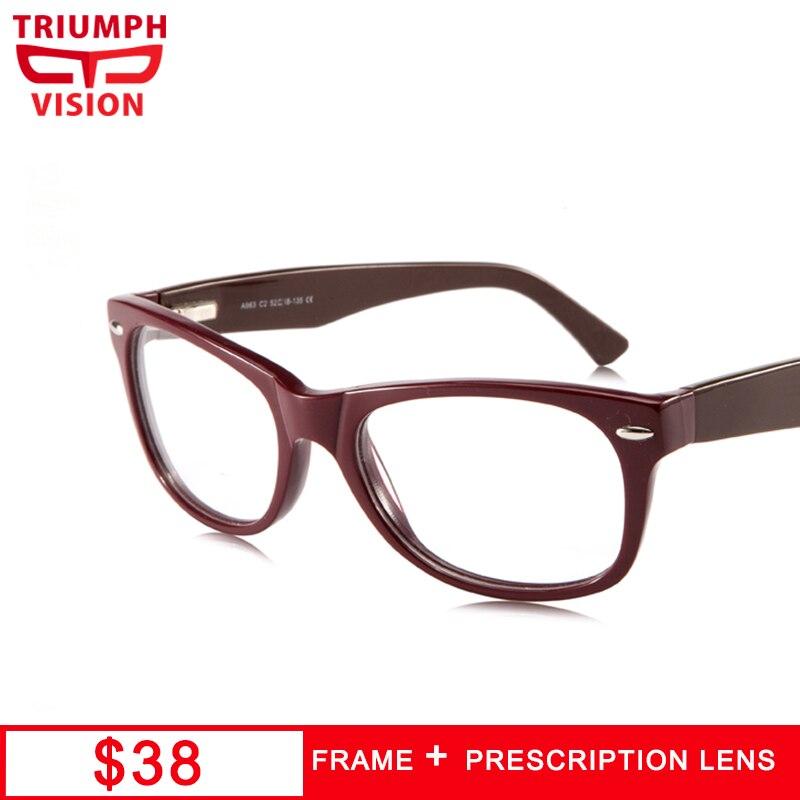 TRIUMPH VISION-نظارات كلاسيكية شفافة ، برشام ، إطار كامل ، وصفة طبية ريترو للنساء لقصر النظر