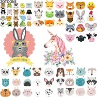 zotoone cute unicorn animals iron on transfer patches set applications fusible patch garment thermo stickers applique on clothes