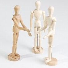 Croquis en bois homme, modèle artiste, poupée sur les membres mobiles, jouet en bois, homme