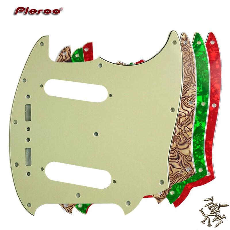 Pleroo Custom Gitarre pickgaurd Scratch Platte-Für UNS Mustang Gitarre Schlagbrett Scratch Platte