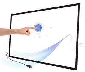 إطار شاشة يعمل باللمس بالأشعة تحت الحمراء متعدد الجوانب مقاس 84 بوصة/6 نقاط ، تنسيق 16:9 للإعلان التفاعلي ، طاولة تعمل باللمس
