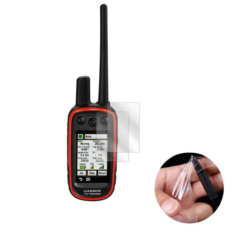 Funda protectora de pantalla transparente PET de 3 piezas para Garmin Alpha 100 TRI-TRONICS rastreador GPS portátil