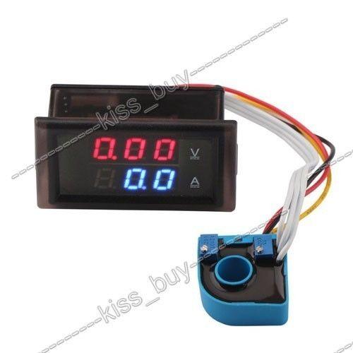 DC 100V ± 10A voltímetro de sala amperímetro Digital LED voltímetro amperios Monitor de batería corriente de voltaje + transformador