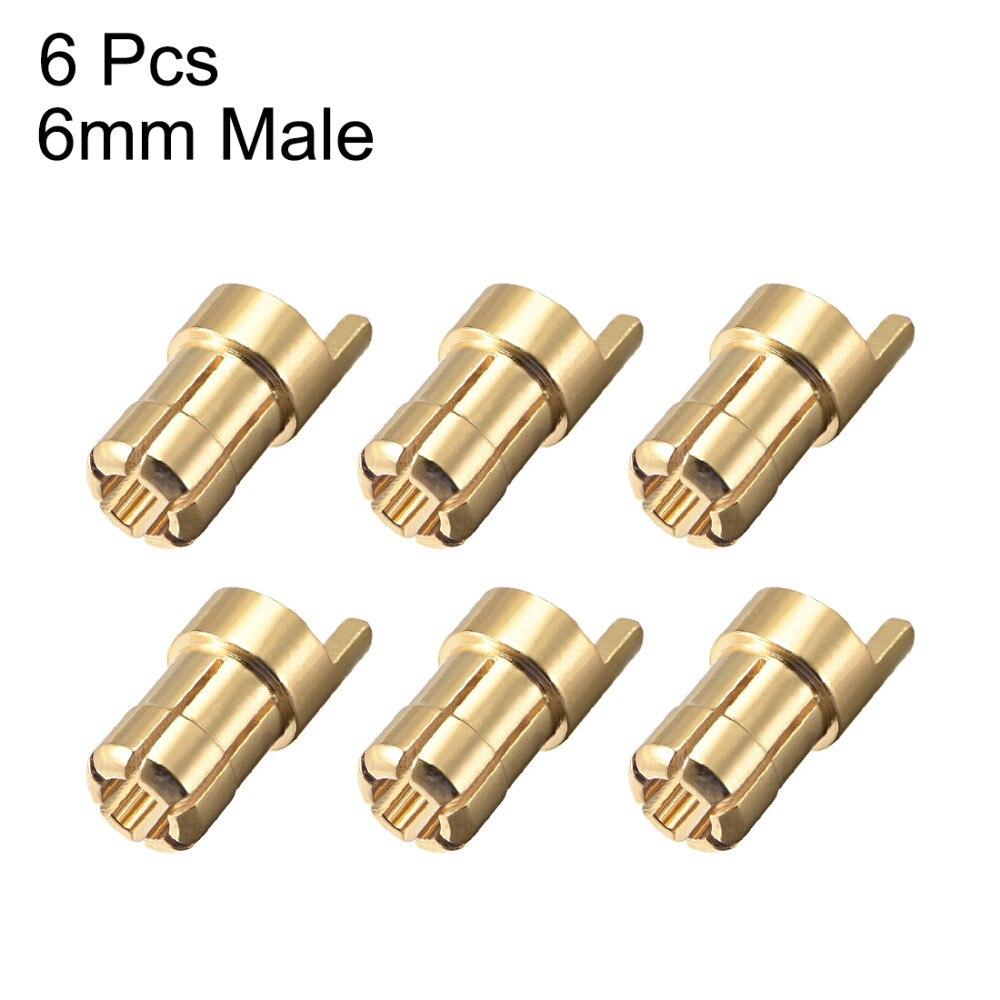 UXCELL 6 pcs Masculino/Feminino 6 milímetros 5.5 milímetros 4 milímetros 3.5 milímetros 2mm Banhado A Ouro Conectores de Balas plugues Banana Dá o Melhor Fluxo Elétrico