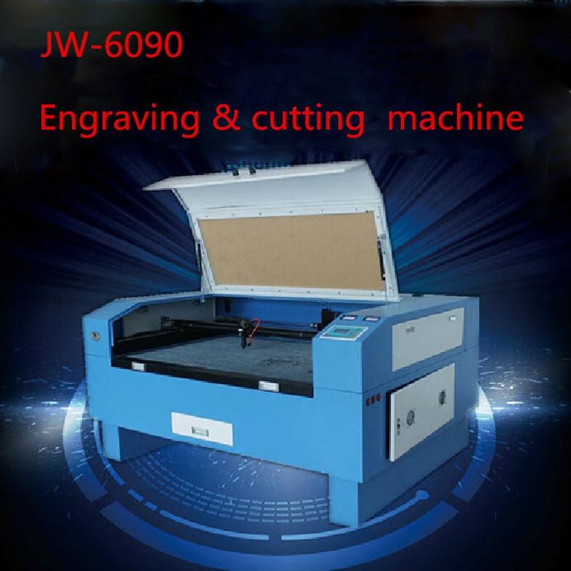 1 PC JW-6090 versión láser Co2 150 W de la máquina de láser CNC máquina de grabado láser máquina de eengraving velocidad 0- 60000 mm/min 220 V