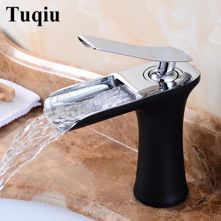 Grifos de lavabo, grifo de cascada, grifo de baño, mezclador para lavabo de un solo Mango, grifo antiguo de latón, grúa de agua del fregadero de plata