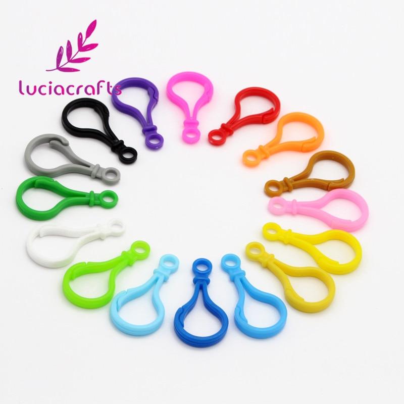 Lucia porte-clés avec boucles en plastique mixte   12 pièces, porte-clés, broderies, sac à main, jouet poupée, outil F0601