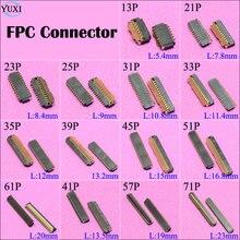 10 pz LCD Digitizer Display Touch Screen FPC connettore sulla Scheda Madre Scheda Principale 13 21 23 25 31 33 35 39 45 51 61 41 57 71 Spille