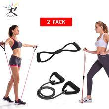 8 mot poitrine développeur tirer corde ensemble bande de résistance bandes extensibles pour Fitness bande de caoutchouc équipement de Fitness extenseur poitrine corde