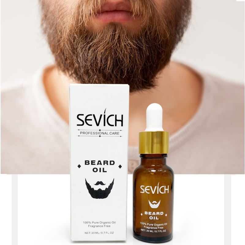 100% Pure Organic Men Beard Oil for Styling Smoothing and Protect Cypress Gentlemen Beard Care Produ