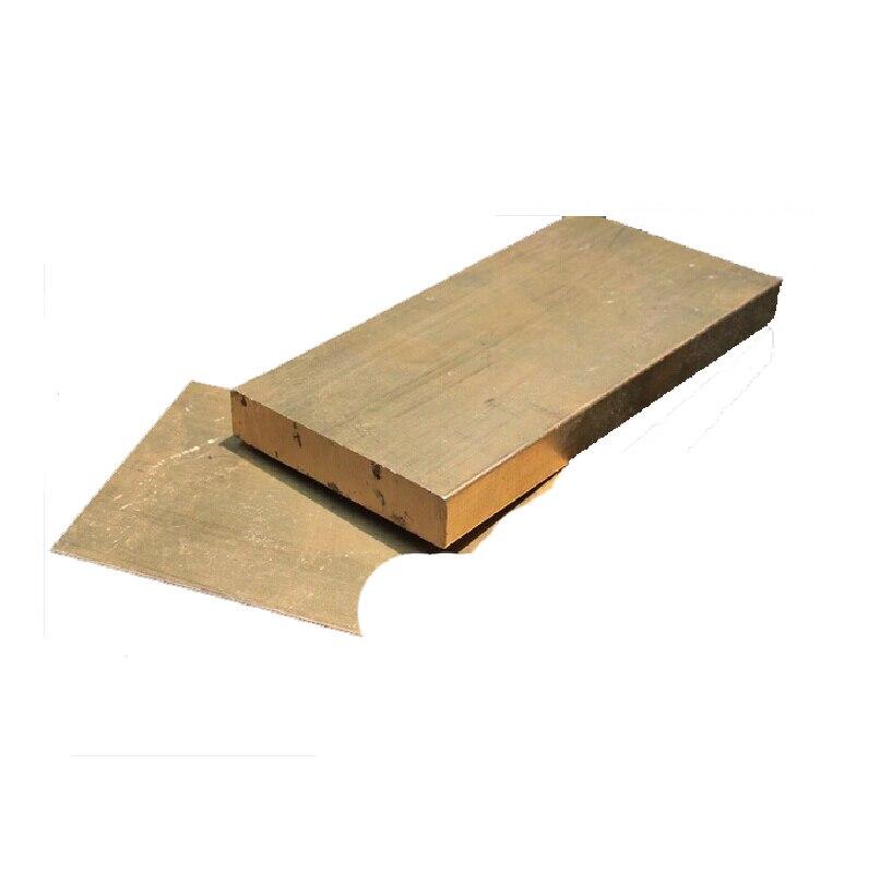 H58 bronze grande placa bloco diy material armfuls 100*50*10mm