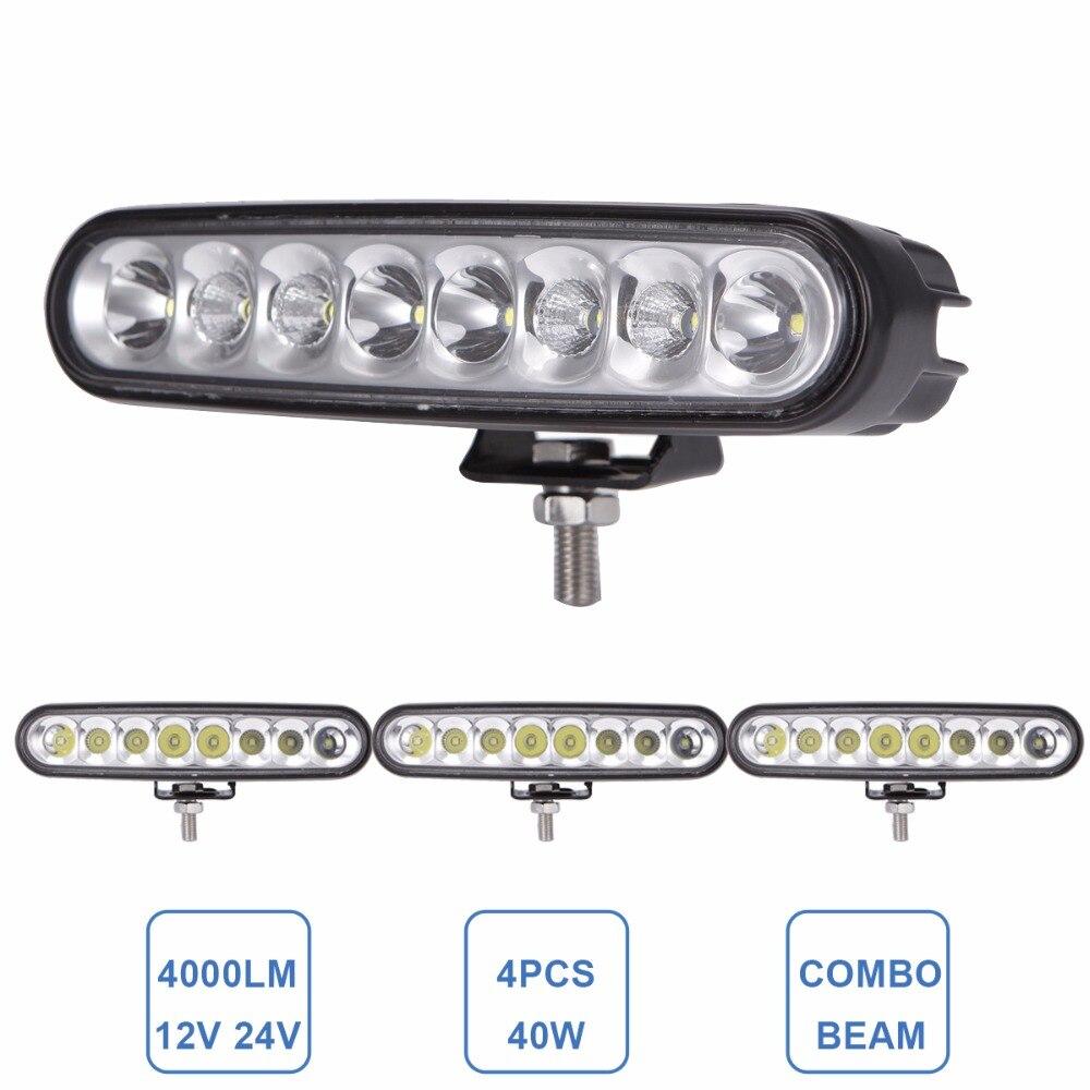 Светодиодный светильник для внедорожников, 4 шт., 40 Вт, 12 В, 24 В, DRL, 6 дюймов