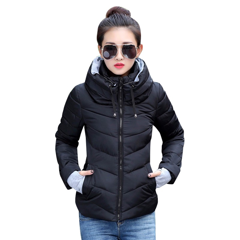 2019 Winter Jacket women Plus Size Womens Parkas Thicken Outerwear solid hooded Coats Short Female S