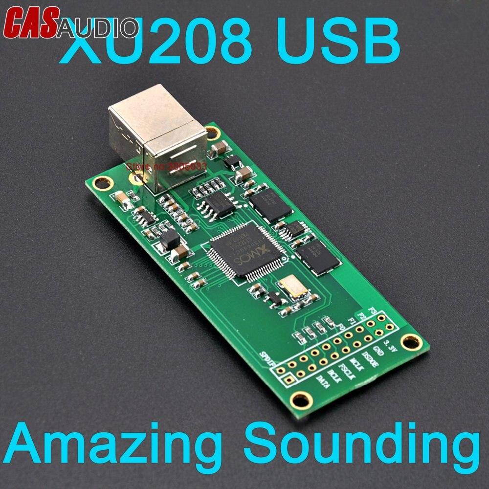 Novo xmos xu208 u208 usb para i2s iis dsd conversor 384 k xmos xu208 usb módulo de interface digital para dac, incrível som