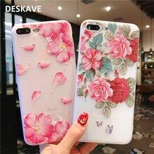 2018 étui pour iphone 6 6 s 7 8 Plus X étui souple en Silicone Floral protéger doux couverture arrière étuis de téléphones portables