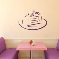 Autocollants muraux en vinyle pour gateau danniversaire  decoration de chambre de bebe  pour la maison  pour la cuisine  le cafe
