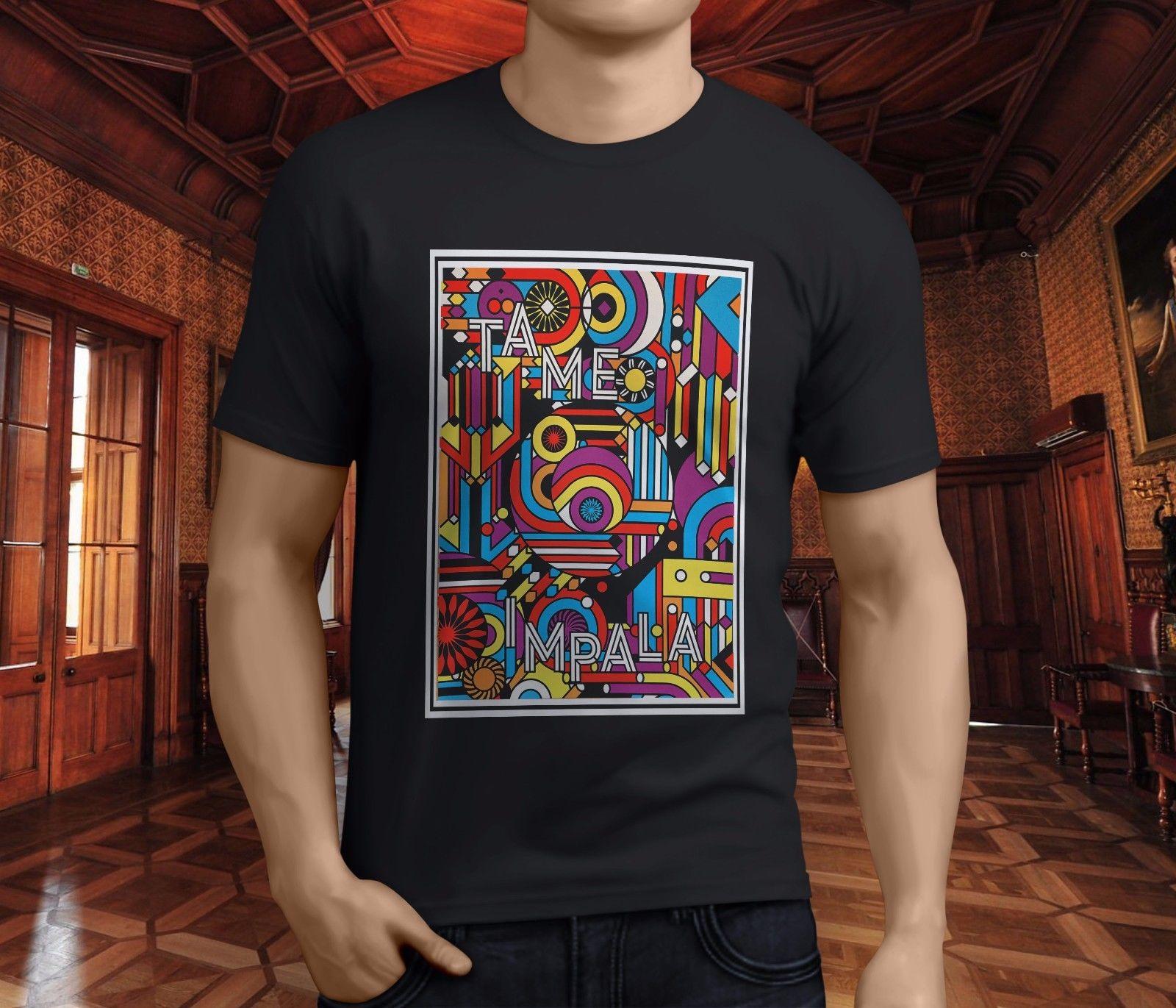 Gildan nuevo Popular Impala de la banda de los hombres negro camiseta S-3XL