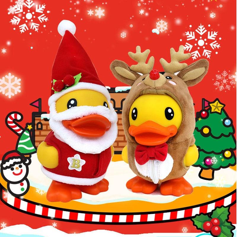 Delicada hucha navideña de pato, hucha de PVC con dibujos animados, caja de dinero de pato navideño, caja de monedas con patos bonitos creativos, regalo de Navidad para niños