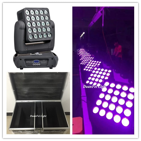(Roadcase) 8 Lote 5x5x5 led haz de foco pixel dot control led blinder matriz de cabezal móvil luz 25x12w RGBW 4in1 Cree llevó la lámpara