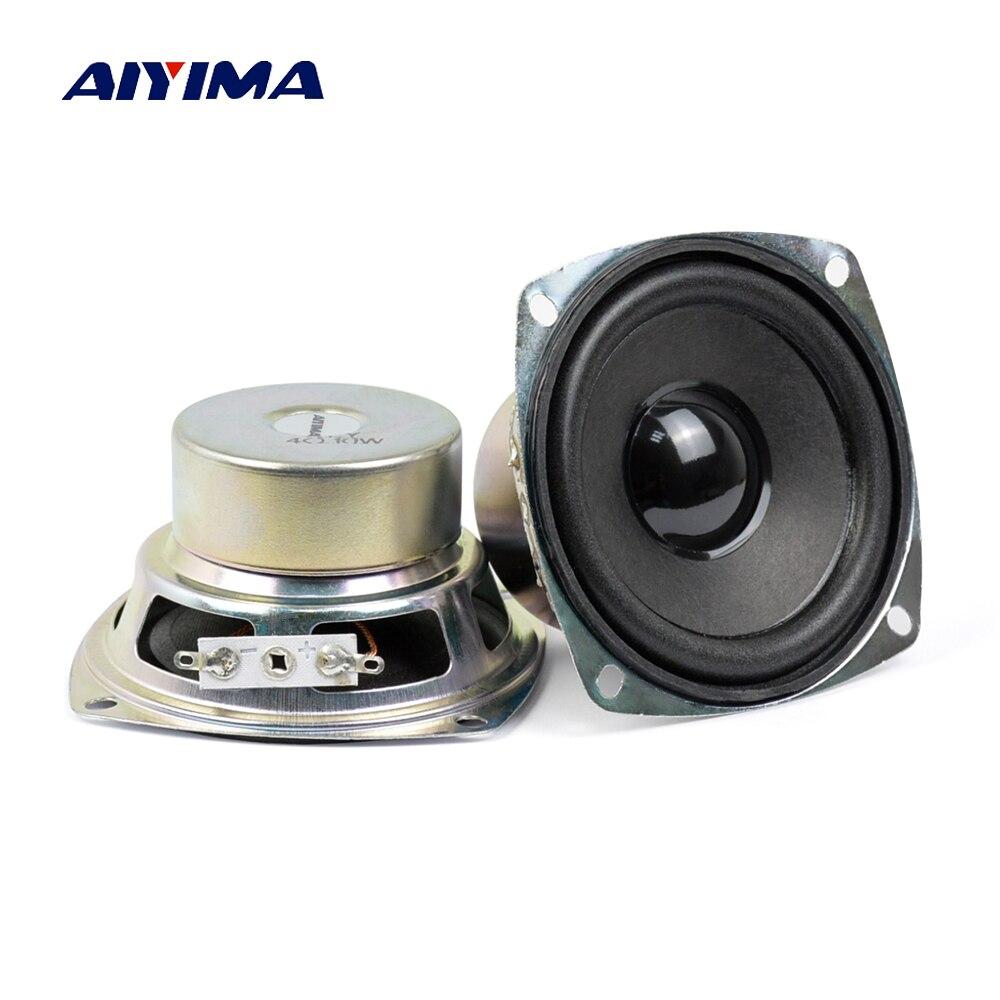 AIYIMA 2Pcs 3Inch Audio Portable Speakers 4Ohm 10W Full Range Speaker High Power DIY Multimedia Speaker