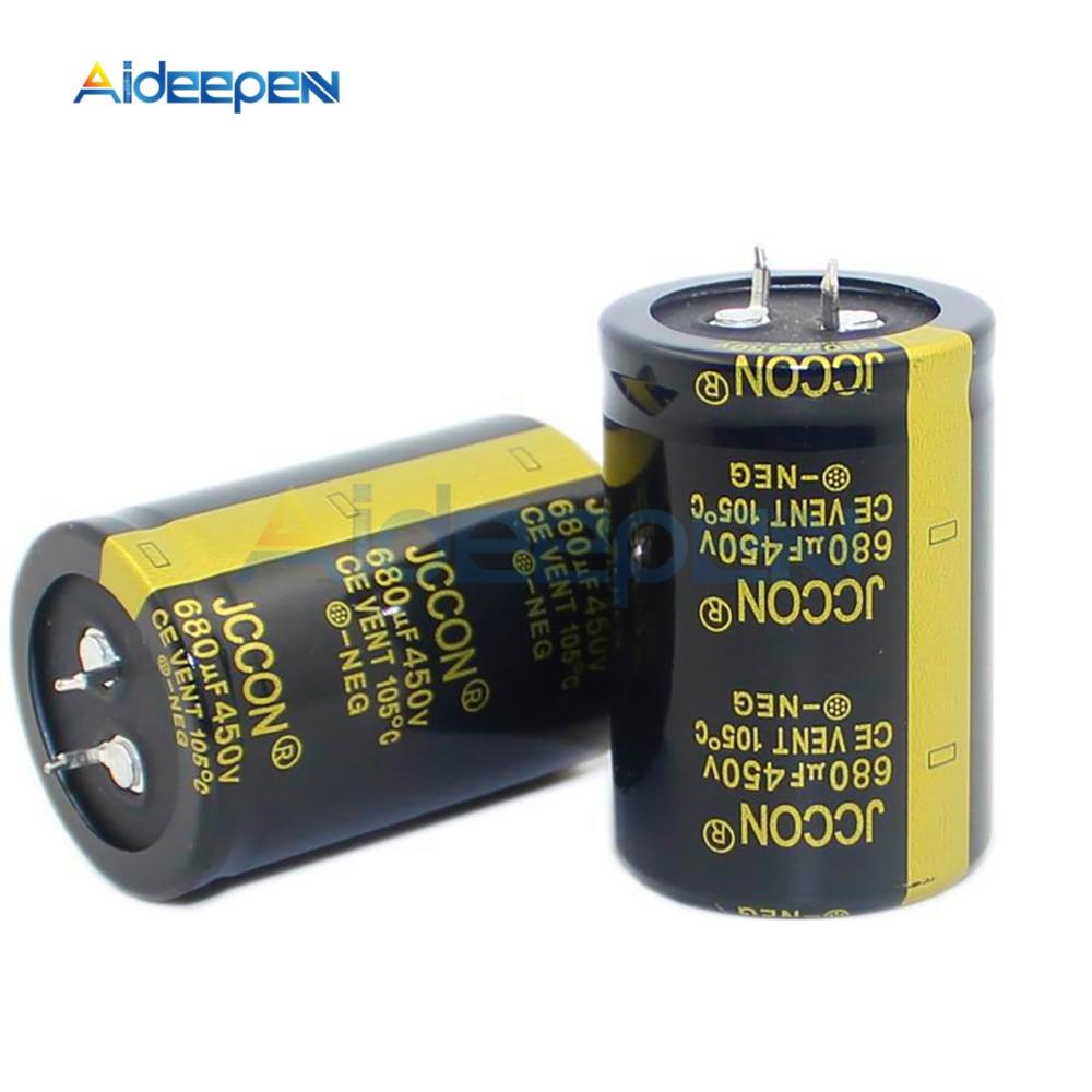 Neue 450V 680uF 450V Elektrolyt-kondensatoren Volumen 35X50MM Hohe Frequenz Niedrigen ESR 35 * 50mm