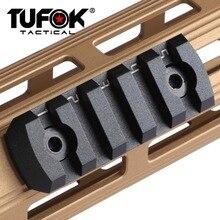 TuFok m-lok 5 fentes Section de Rail Ultra mince monture de portée de fusil Mlok Picatinny adaptateur de Rail de tisserand Picatinny socle de montage sur Rail