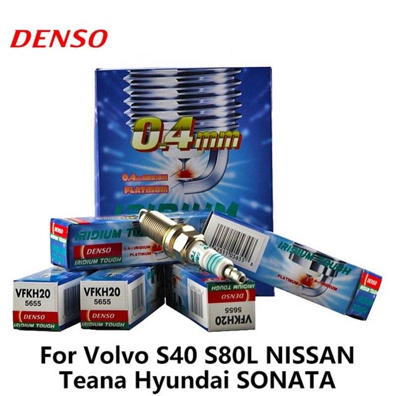 4 teile/los DENSO Auto Zündkerze VFKH20 Für Volvo S40 S80L NISSAN Teana Hyundai SONATA Doppel Iridium Auto auseinander