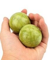 Large Green Jade Baoding Balls - Chinese Health Stress Exercise Balls W1728