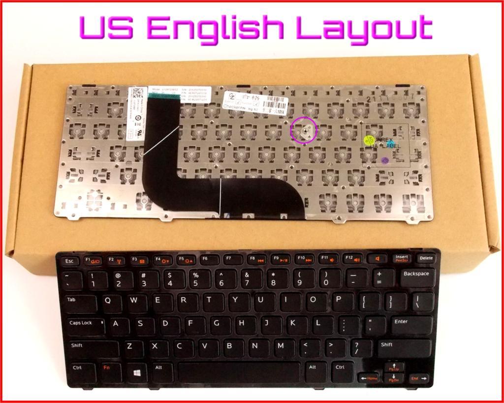 Nuevo teclado US versión en inglés para Dell Vostro 3360 V3360D V3360D-4408 V3360D-2608 V3360D-2808 ordenador portátil con marco V3360D-3808