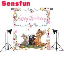 zy212 Newborn Rabbit Bambi Kid Birthday Custom Photo Studio Backdrop Background Vinyl 220cm x 150cm