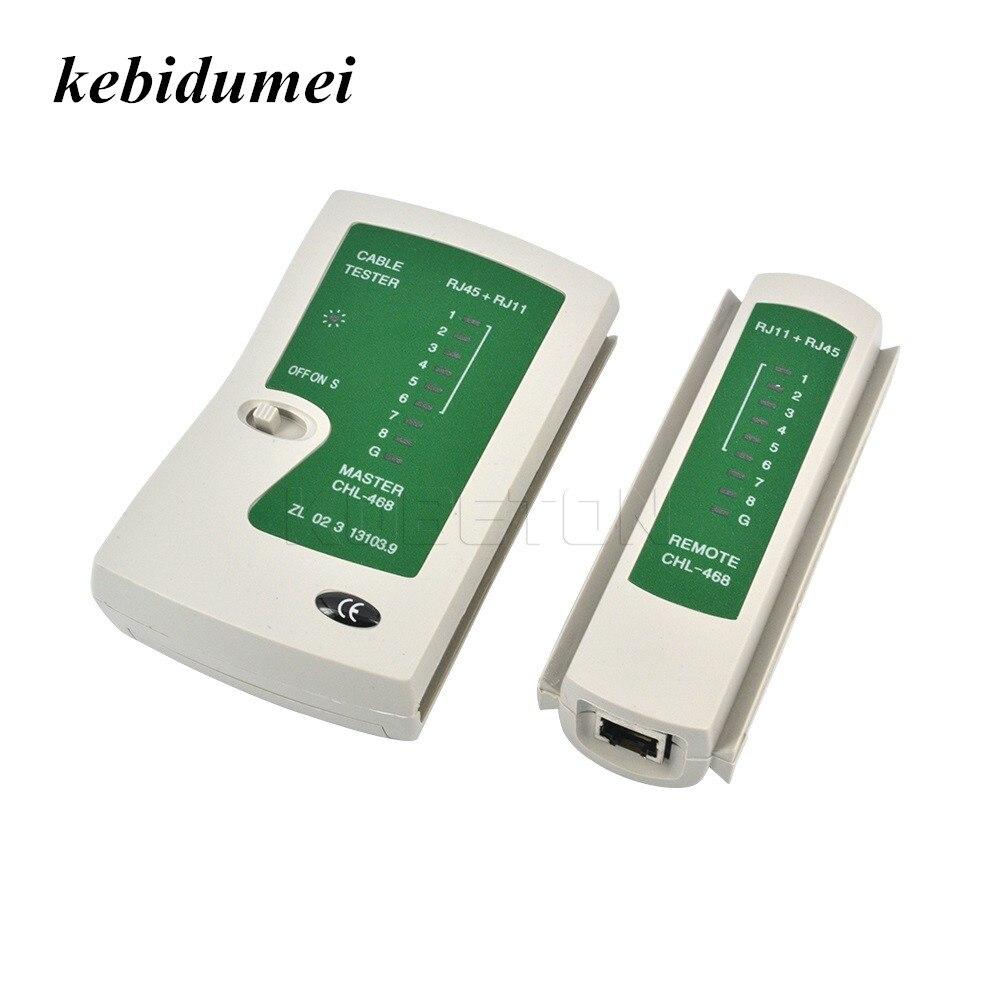 Kebidumei RJ45 RJ11Cat5 Cat6 LAN Cable Tester Handheld Network Cable Tester Fio de Linha Telefônica Detector Rastreador Ferramenta kit