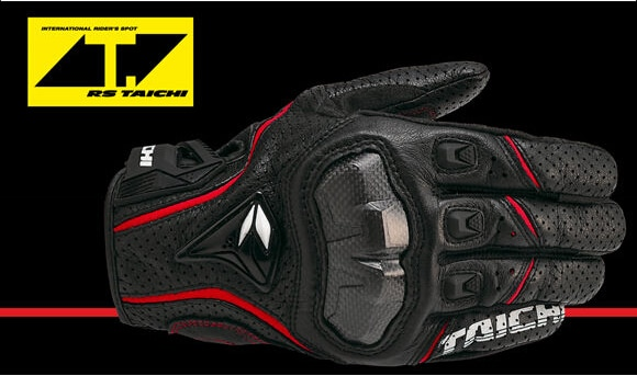 free shipping newest  RS 390 full skin perforated carbon fiber glove motorcycle racing gloves full finger 3 size 3 color enlarge