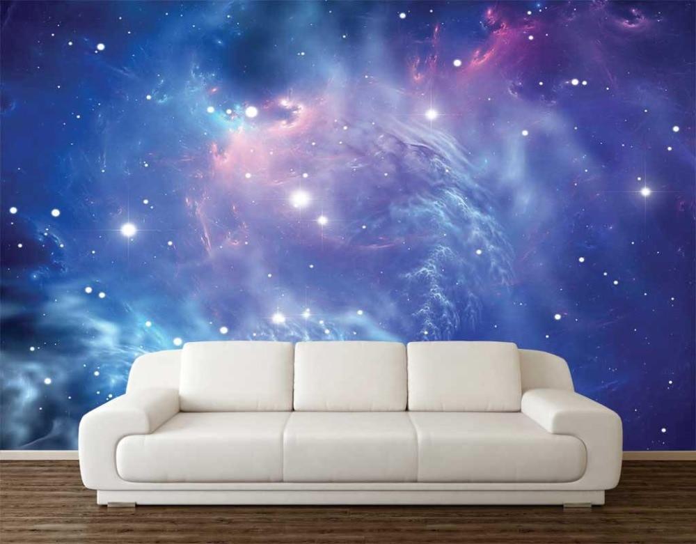 Papel tapiz con foto 3D personalizado, cartel de decoración de pared con espacio de galaxia de fantasía, arte extraíble, Mural, pegatinas de pared