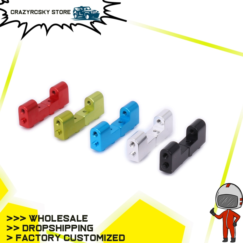 2PCs Alloy Servo Mount For Rc Hobby Model Car 1-12 Wltoys 12428 12423  FY03 Monster Truck Short Course s-Course Off-Road