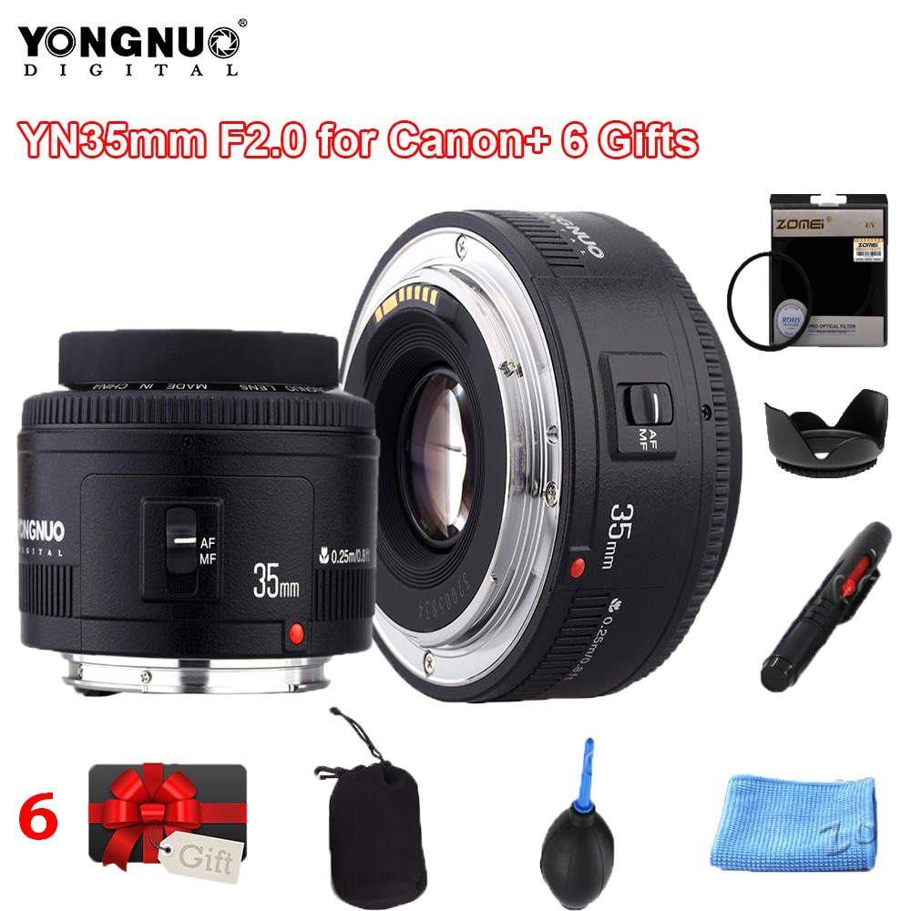 Yongnuo 35 مللي متر yn35مم F2.0 زاوية واسعة ثابت/رئيس التركيز التلقائي عدسات لكاميرات كانون زاوية واسعة ثابتة عدسة التركيز التلقائي 60d 5DII 5D