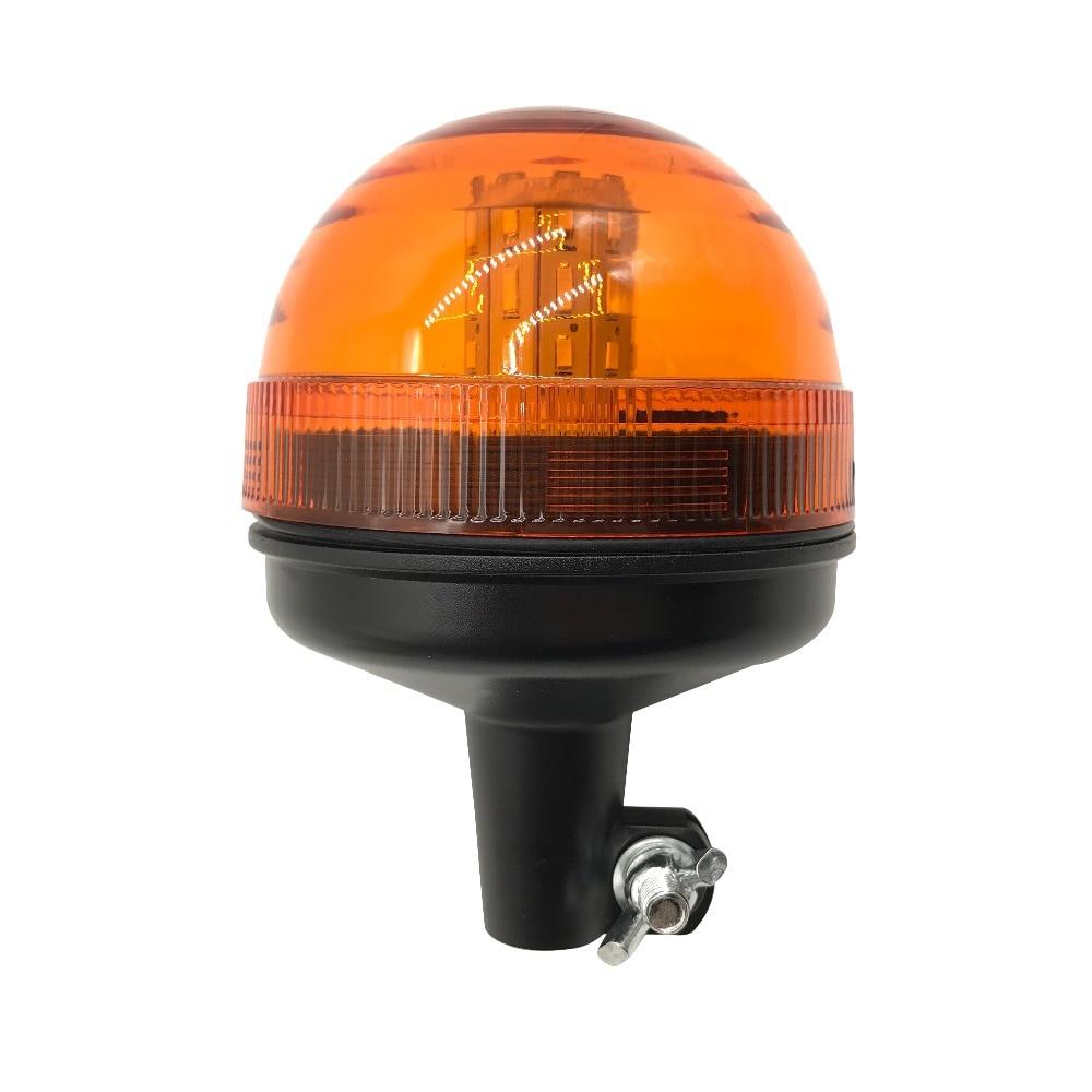 Luz de advertencia intermitente LED amarilla 40 para montacargas de coche, luz estroboscópica de emergencia para motocicleta y Policía, luz de señal segura para vehículo