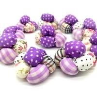10pc handmade 3d cotton fabric flowers hair pins craft diy supplies clothing dress accessories sewing supplies